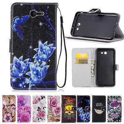 Women Wallet Magnetic Flip Leather Case Cover for Samsung Galaxy J7 2017 Sky Pro