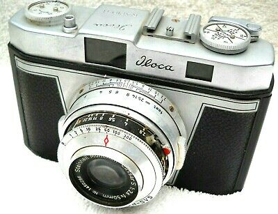 **1956 ILOCA RAPID-B 35mm RANGEFINDER FILM CAMERA CASSAR S 50mm 1:2.8 LENS**