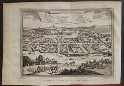 Loango Congo West Africa 1763 Bellin/schley Antique Copper Engraved City View