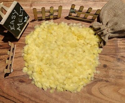 1KG Organic Australian Beeswax Pellets Drops Candle Soap Cosmetic Food Wrap Wax
