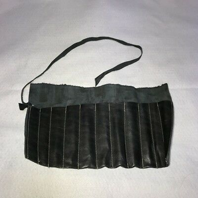 Japanese Vintage Chisel Nomi Roll Rolling Woodworking Tool Bag imitation leather