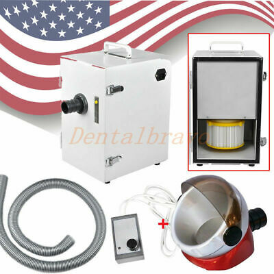 USA Dental 370W Digital Single-Row Dust Collector Vacuum Cleaner & suction base