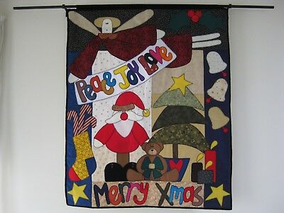 Xmas Quilt Chook Shed Merry Xmas Quilt Peace Joy Love Quilt