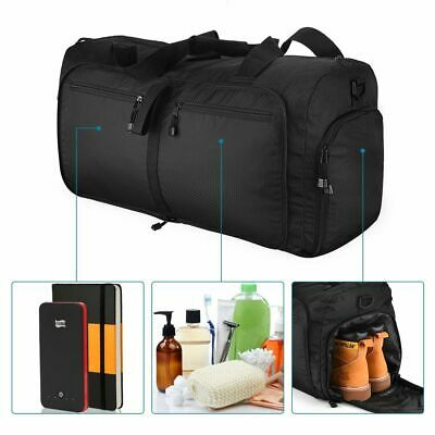 60L Travel Duffel Bag Large Foldable Sports Gym Duffle Big Pouch Waterproof New