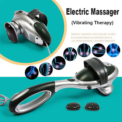220V Handheld Electric Massager Body Back Neck Foot Vibrating Therapy Machine