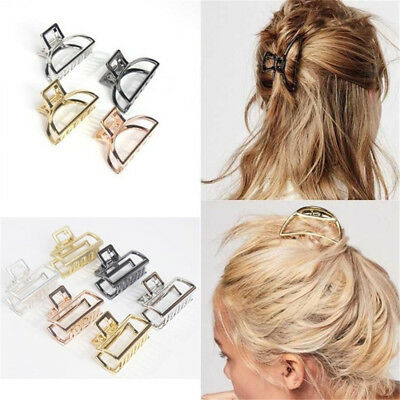 Geometric Square Metal Hair Clips Buckle Alloy Hair Girl Hair Claw Make Up Tools