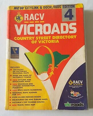 Racv Vic Roads Country Street Directory - Edition 4 - With Citylink & Docklands