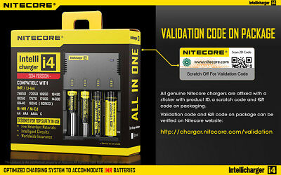Nitecore i4 charger 2014 18650 RC123A CR2 NCR IMR High Drain Lithium Battery