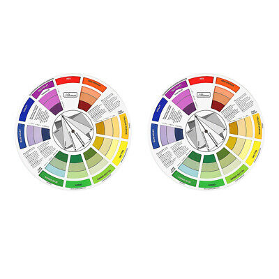 2x Color Mixing Wheel Guide Nail Embroidery Match Colors Palette -Two Side