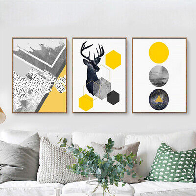 Modern Nordic Abstract Canvas Painting Wall Print Picture Home Decor Unframed