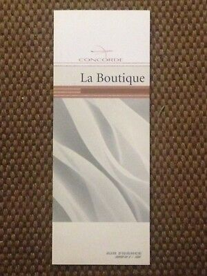 Brochure Commerciale Boutique CONCORDE Air France