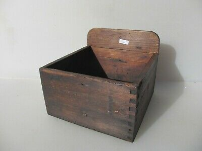Vintage Wooden Box Storage Antique Old Crate Wood Air Ministry A.M RAF WW2 1943