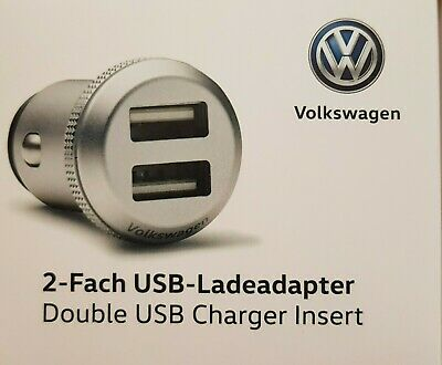 VW Original 2 Fach USB Ladeadapter  (2 x max 2,4 A)  000051443D