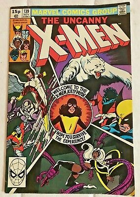 Full Colour THE UNCANNY X-MEN No.139 From 1980 By Marvel Comics