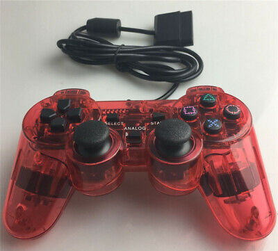 NEW Wired Red Dual Shock Controller for PS2 PlayStation Joypad Gamepad UK Z29