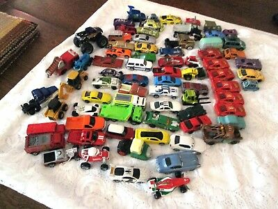 Lot Of 70+  Hotwheels Maisto Matchbox Ertl Hasbro Tonka  Disney/pixar, Etc