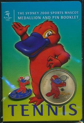 "Australia: 2000 Olympic Tennis Medallion & Pin ""Syd"" Sports Mascot Booklet"