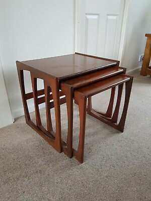 Vintage Retro 1970s G-PLAN Quadrille Teak Nest of Coffee Tables (x3) Mid-Century