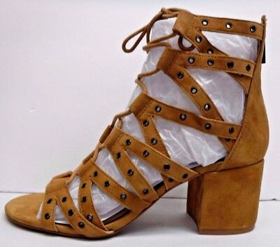 e8fde20b1a7 Jessica Simpson Size 6 Honey Brown Leather Sandals Heels New Womens Shoes