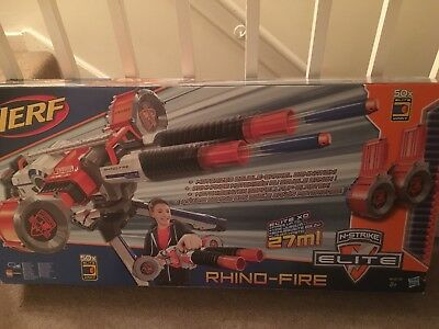 Nerf Rhino Fire N-Strike Elite Blaster Ammo Drums 50 Elite Darts Damaged Box