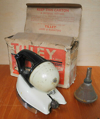 Tilley Domestic Iron Boxed with Tool and Funnel made in Hendon