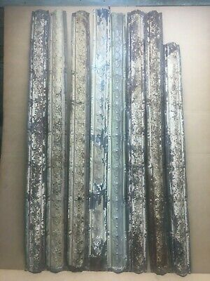 """8pc Lot of 48"""" by 3"""" Antique Ceiling Tin Vintage Reclaimed Salvage Art Craft"""