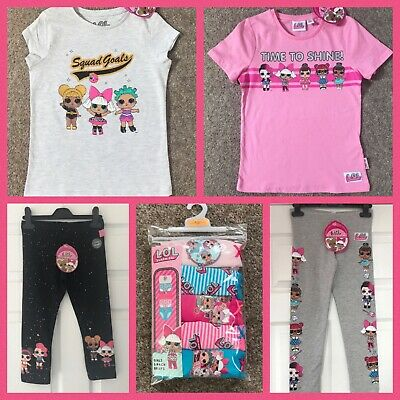 New Girls LOL Surprise Doll T-Shirt Top Leggings Briefs 4-10 Yr Licensed Primark