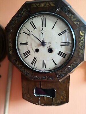 Old German Black Forest Drop Dial Wall Clock