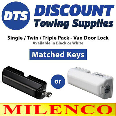 Milenco High Security Van Door Locks SINGLE, TWIN or TRIPLE Keys Matched