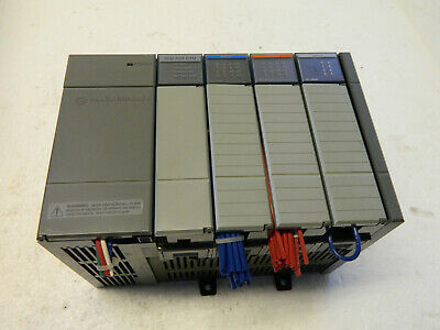 Allen Bradley  slc500 1746-p1 4 slot rack with 1747-l511 processor and 3 modules
