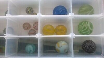 Marbles, vintage 56 IN TOTAL VARIOUS SIZES AND COLOURS