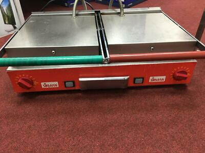 Professional Sirman Ceramic Double Ribbed Panini Grill ex Costa Coffee Romford