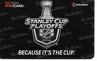 Tim Hortons Nhl Hockey Stanley Cup 2014 English Gift Card Rechargeable