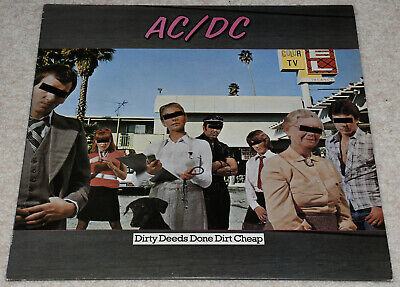 AC/DC Dirty Deeds Done Dirt Cheap IMPRESSIVE UK 1976 EX+ LP, PLAYS SUPERBLY