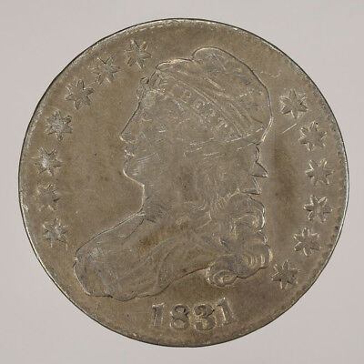 1831 50c CAPPED BUST HALF DOLLAR - LETTERED EDGE - LOT#H020