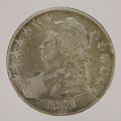 1831 50c CAPPED BUST HALF DOLLAR - LETTERED EDGE - LOT#H018