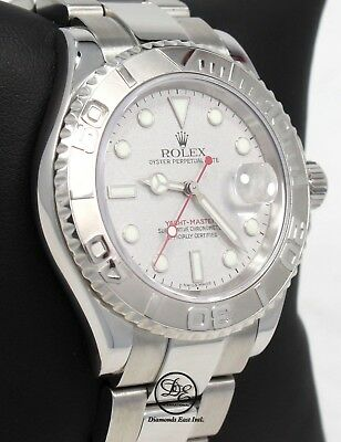 a6bb04c6a47 ROLEX YACHT MASTER 16622 40mm Oyster Perpetual Platinum Bezel BOX PAPERS   MINT