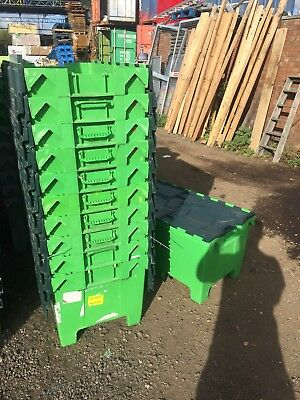 230 Ltr Plastic Removal & Storage Crate, Container Tote Box