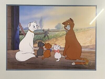"""Walt Disney Lithograph~""""The Aristocats"""" Framed in it's Original Envelope"""