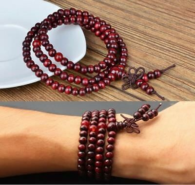PRAYER BEADS BUDDHA Buddhist Mala 108 Zen Bracelet Necklace reiki UK Meditation