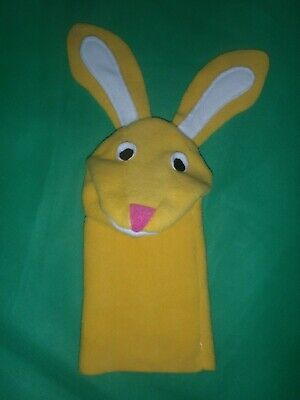 2019 Replica of Rare Vintage Yellow Sunny Bunny Puppet as seen in Baby Einstein