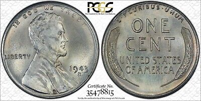 1943 S MS 67 RD Lincoln Wheat small cent PCGS 35478815 nice Bright Luster Clean