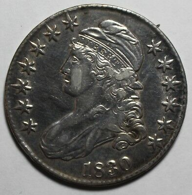 1830 Capped Bust Half Dollar MP92