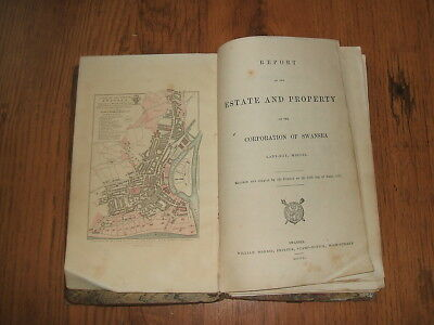 Report on the Estate & Property of the Corporation of Swansea,1850 - col.map...