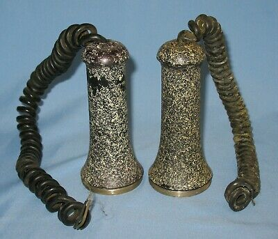 2 Antique Stromberg-Carlson Speckled Candlestick Telephone Receivers For Parts