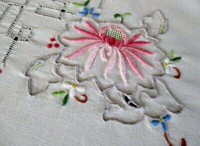 Vintage Madeira Tablecloth - Hand Embroidered