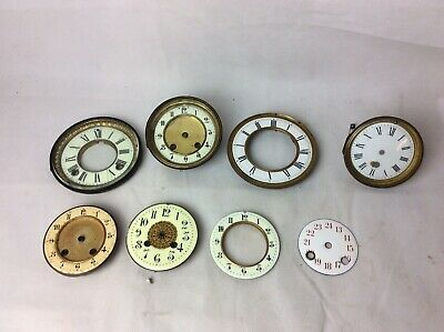 Vintage Clock Parts. Mantle Clock. Enamel Faces X 8