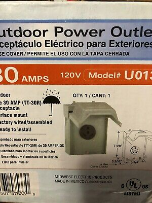 GE ENERGY INDUSTRIAL SOLUTIONS Midwest Electric 30A 120V Surface Mount Outdoor R