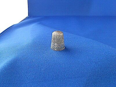 Antique Sterling Silver Thimble Simons Flower Band Size 8