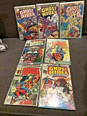 7 Bronze Age Comic Lot ~ GHOST RIDER #77 66 60 58 55 27 26 1970s 80 & 90 Marvel